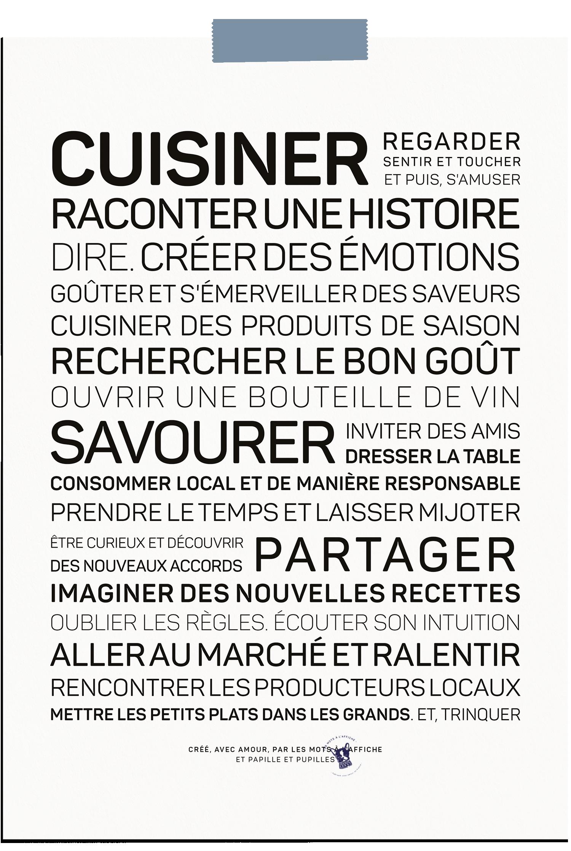 Affiche Cuisiner