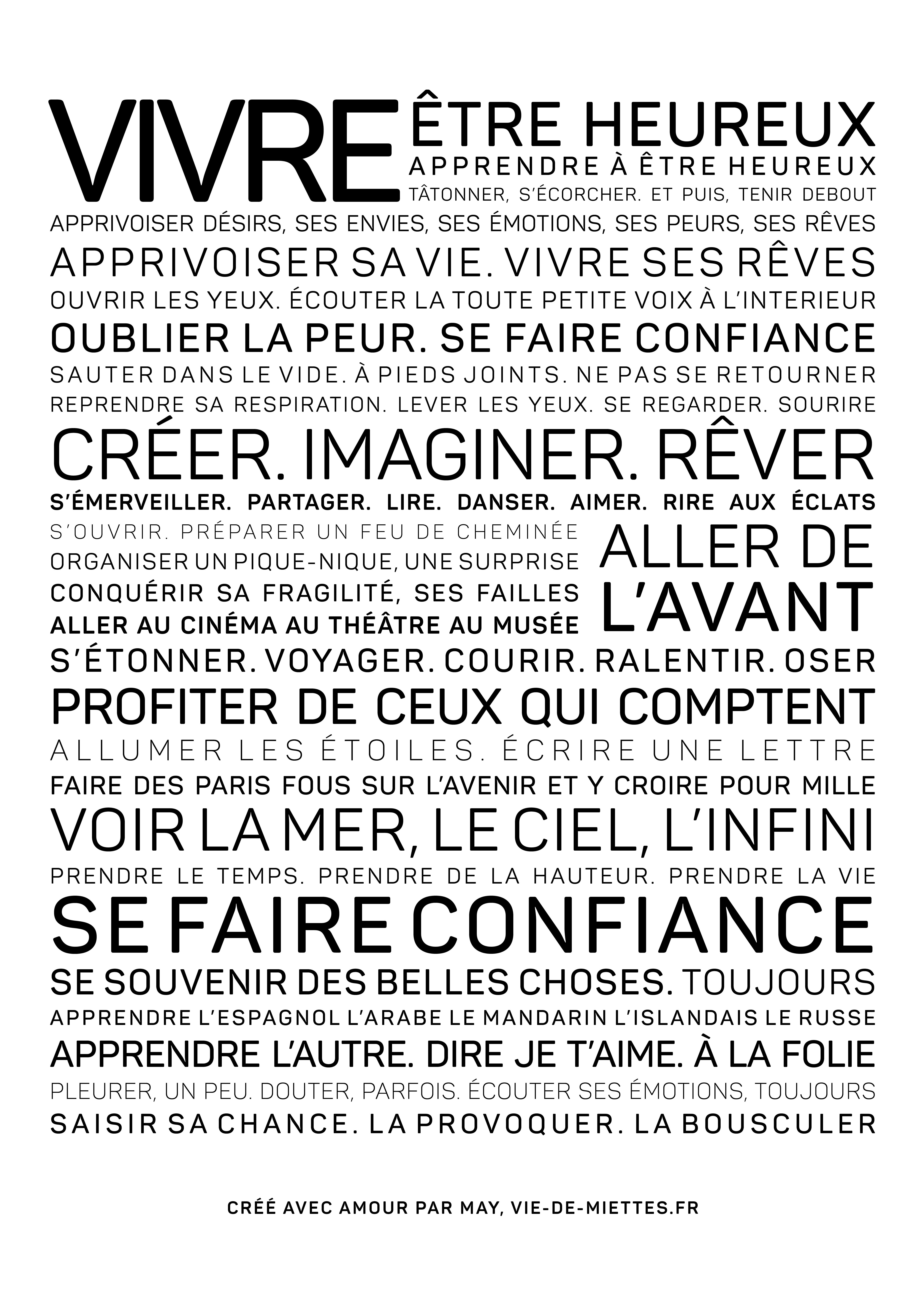 Affiche Vivre