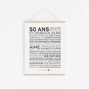 Affiche 50 ans inspirante