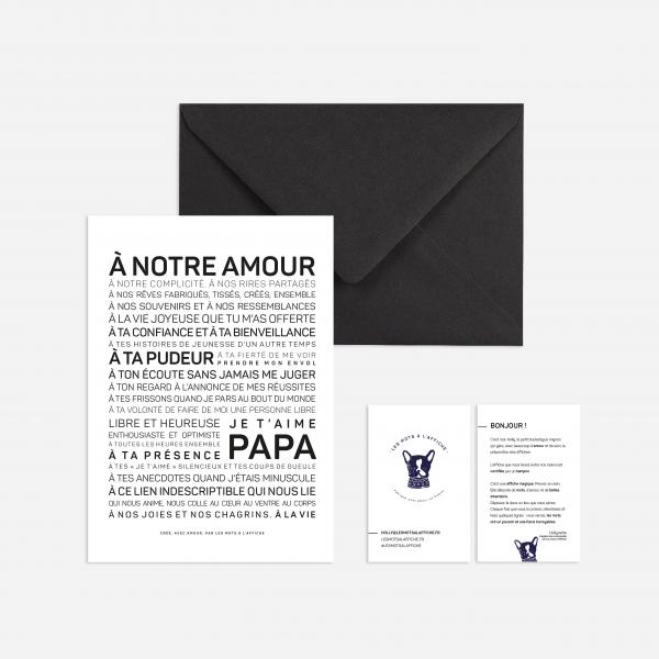 Carte postale papa à texte