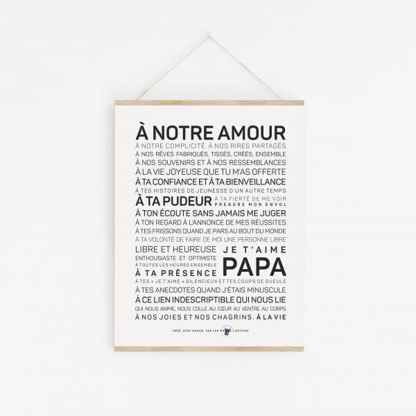 Affiche papa inspirante