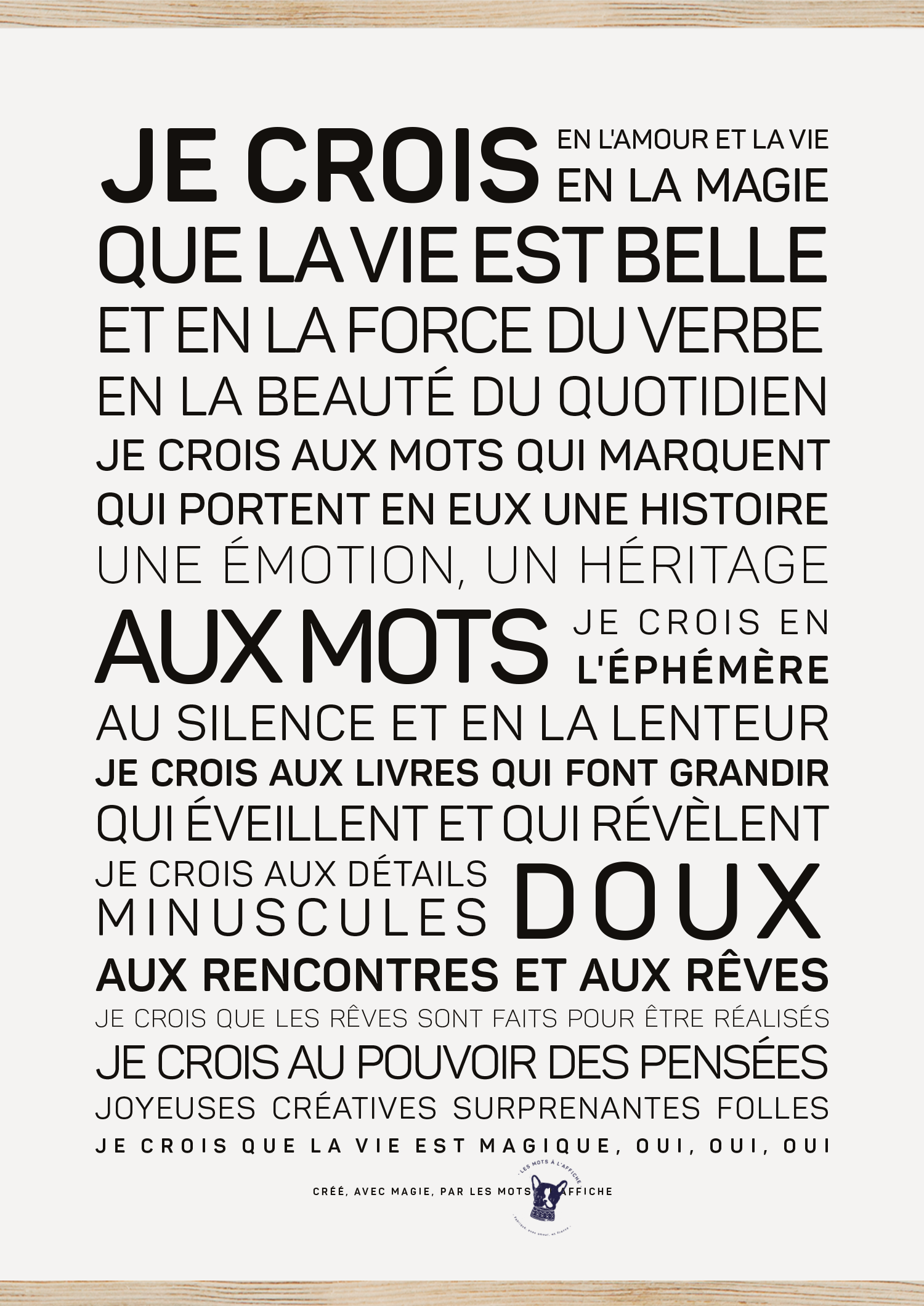 Affiche La vie est belle